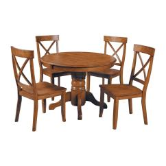 Round Kitchen Table And Chairs Set A Chair For My Mother Lesson Plans Home Styles Cottage Oak 5 Piece Dining With
