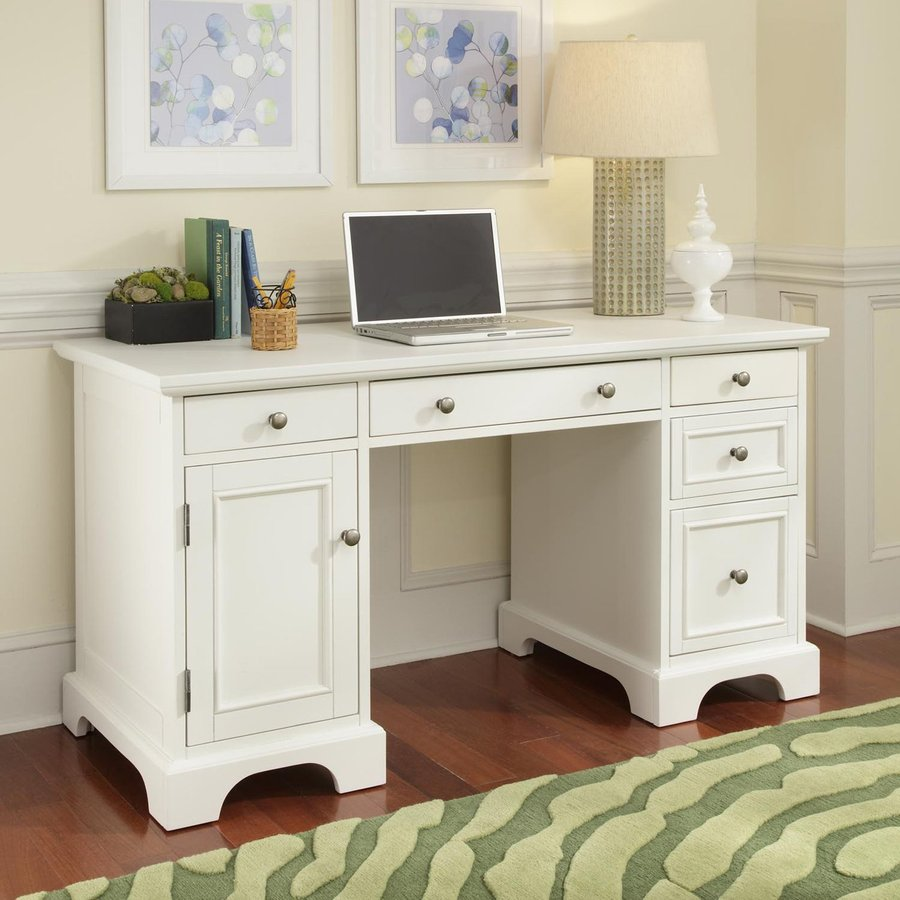 Shop Home Styles Naples White Computer Desk at Lowescom
