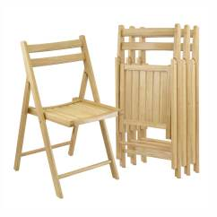 Folding Chairs Wooden Black Spindle Dining Winsome Wood 4 Pack Indoor Beech Standard Chair At