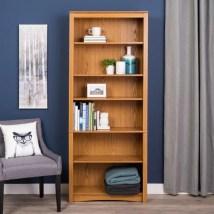 Prepac Oak 6-shelf Bookcase