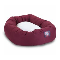 Shop Majestic Pets Burgundy Poly Cotton Twill Oval Dog Bed ...