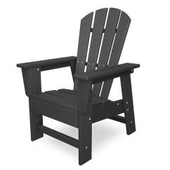 Gray Adirondack Chairs Outdoor Patio Lounge Chair Polywood 31 5 In Kids At Lowes Com