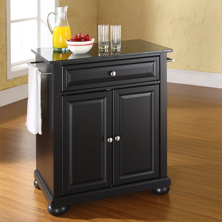 crosley kitchen island compact furniture black craftsman at lowes com