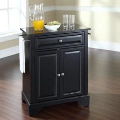 Crosley Kitchen Islands 2 Tier Island Shop Furniture Black Craftsman At ...