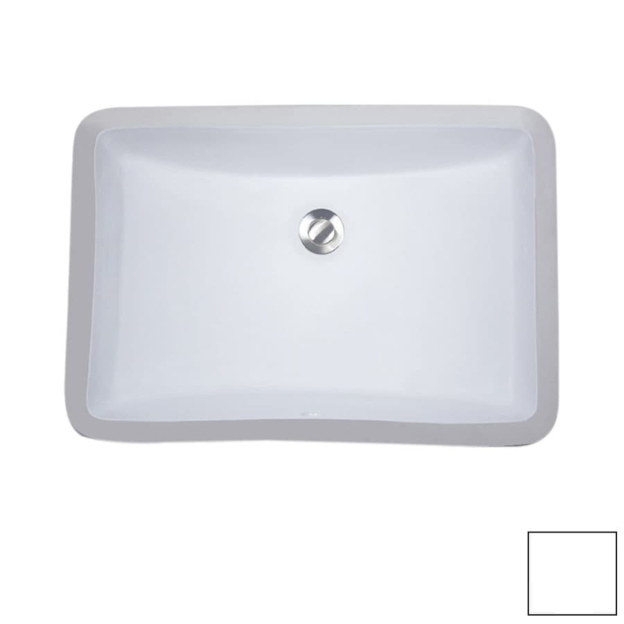 Lowes Undermount Bathroom Sink Nantucket White Undermount Rectangular Bathroom Sink With Overflow