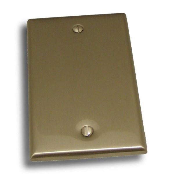 Residential Essentials Satin Nickel Single Blank Wall