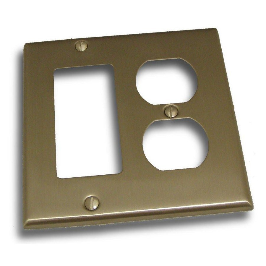 Shop Residential Essentials 2 Gang Satin Nickel Double