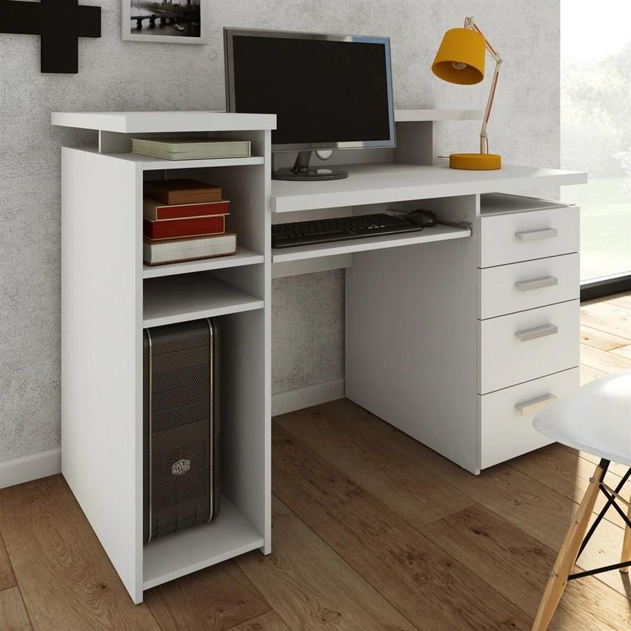 Shop Tvilum Whitman White Computer Desk at Lowescom
