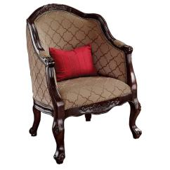 Tub Accent Chair Mission Dining Chairs Design Toscano Market House English Mocha At Lowes Com