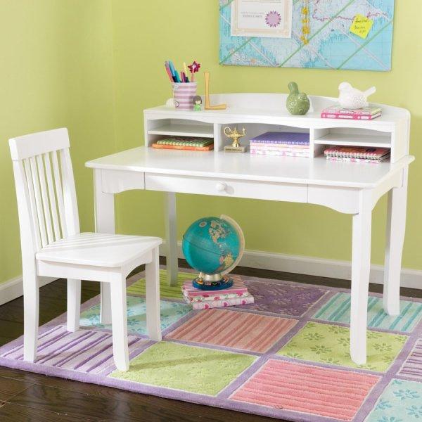 Kidkraft Avalon Transitional White Writing Desk