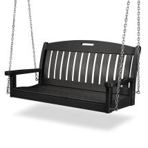 Polywood Nautical Black Porch Swing