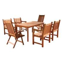 Vifah Balthazar 7-piece Eucalyptus Patio Dining Set