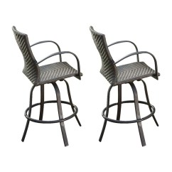 Bar Height Outdoor Chairs Ergonomic Chair Best 2018 Greatroom Company Naples Set Of 2 Wicker Aluminum Stool With Woven