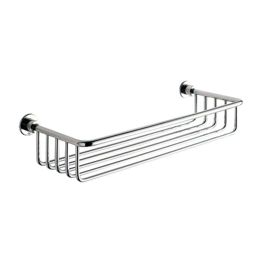 Nameeks Gedy Wire Chrome Brass Bathroom Shelf at Lowes.com