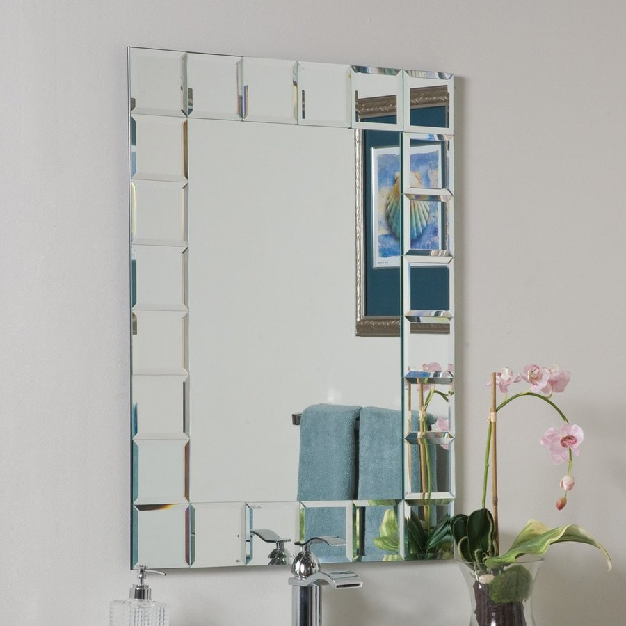 Decor Wonderland Montreal 23 6 In Clear Rectangular Bathroom Mirror In The Bathroom Mirrors Department At Lowes Com