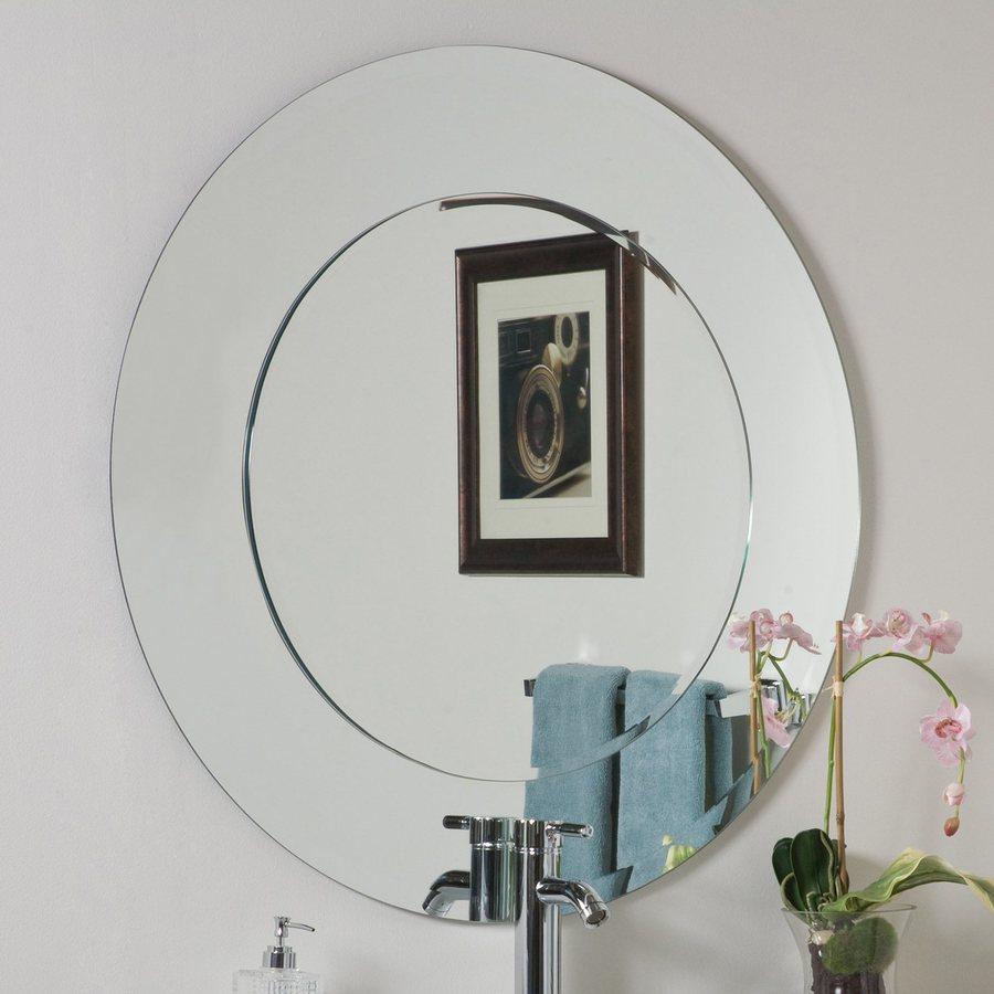 Decor Wonderland Oriana 35in Round Bathroom Mirror at