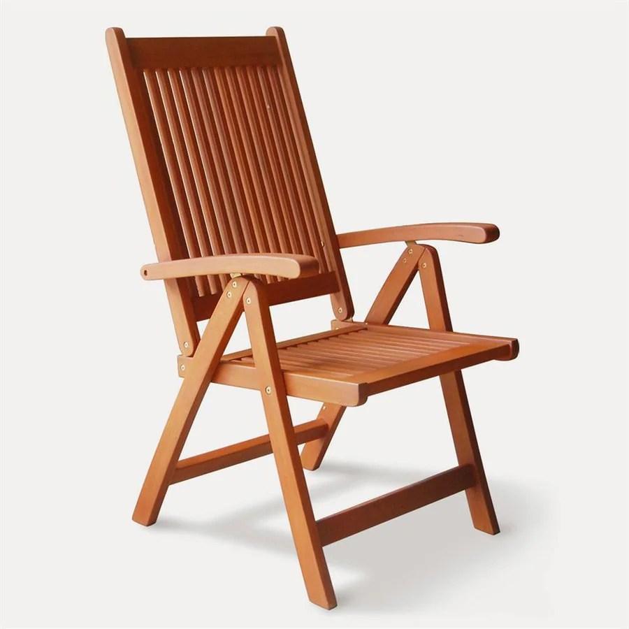 VIFAH Vista Eucalyptus Folding Patio Dining Chair at Lowescom