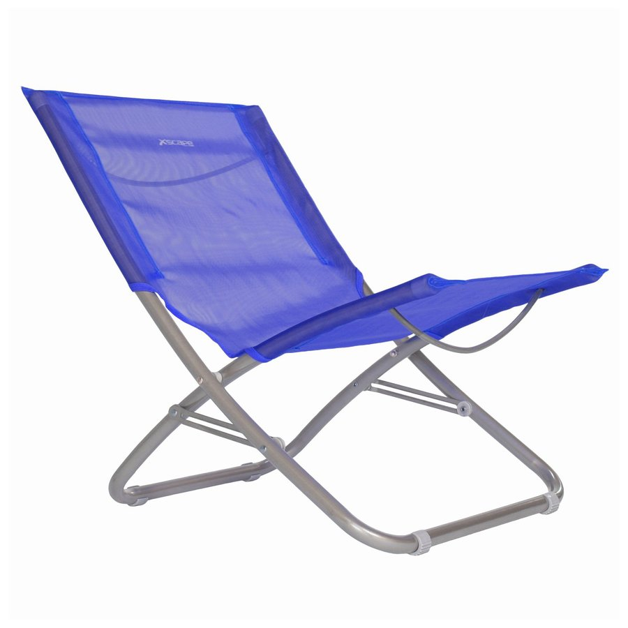 Beach Folding Chairs Xscape Indoor Outdoor Metallic Blue Beach Folding Chair At Lowes