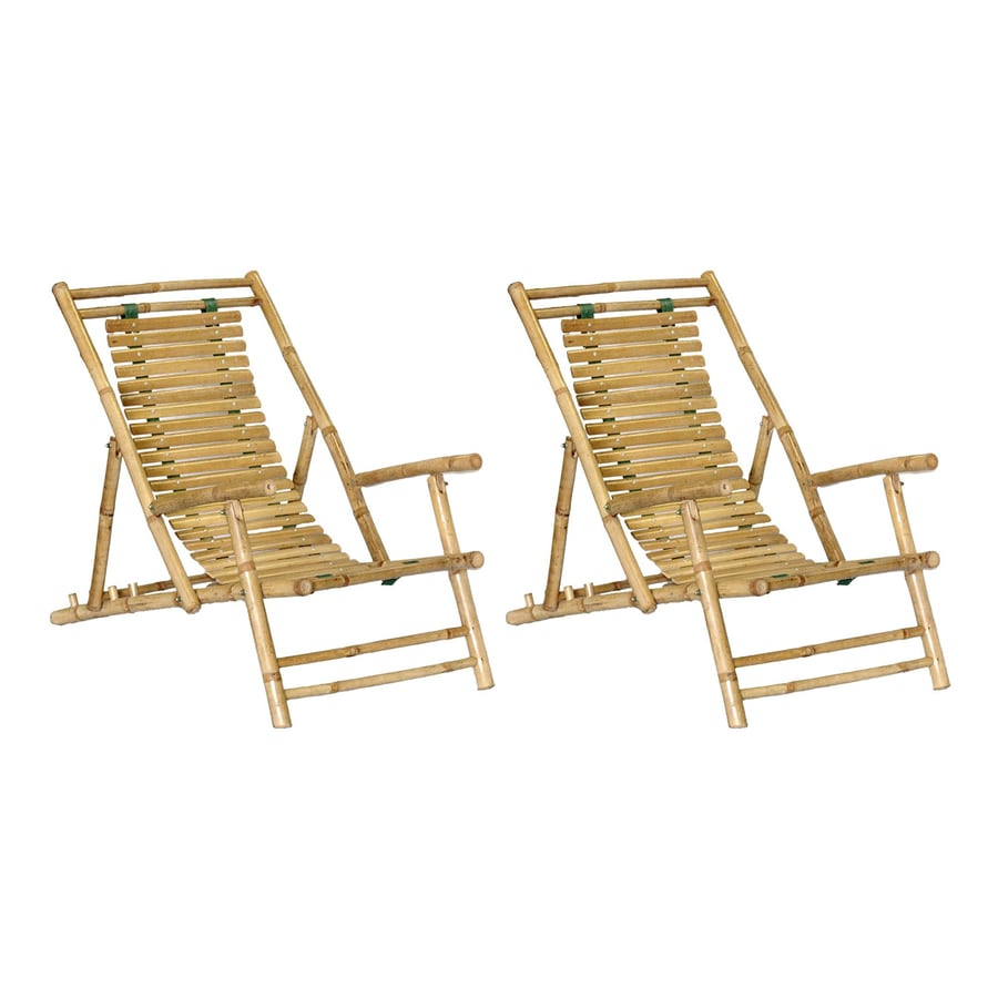 Folding Wood Beach Chair Bamboo 54 Natural Bamboo Folding Beach Chair At Lowes