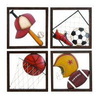 Shop Woodland Imports 4-Piece 16-in W x 16-in H Framed ...