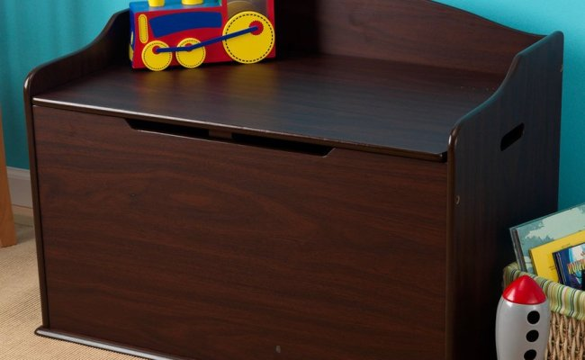 Shop Kidkraft Austin Espresso Rectangular Toy Box At Lowes