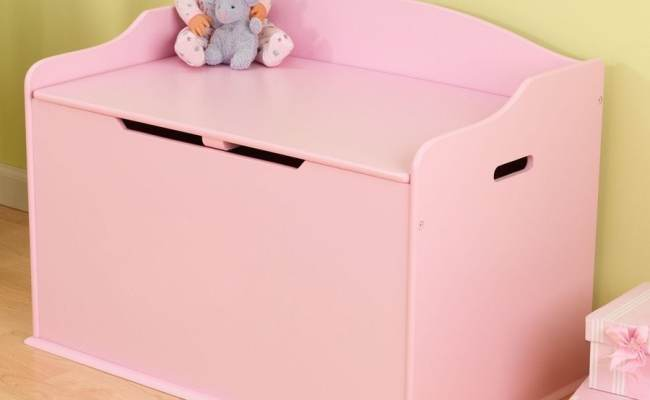 Kidkraft Austin Pink Rectangular Toy Box At Lowes
