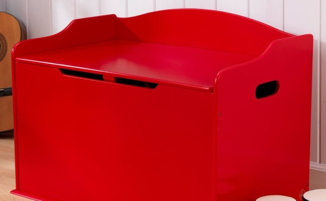 Shop Kidkraft Austin Red Rectangular Toy Box At Lowes