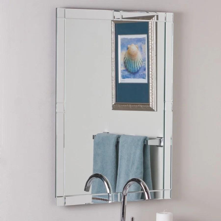 Shop Decor Wonderland 236in W x 315in H Rectangular Frameless Bathroom Mirror with Hardware