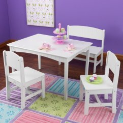 Kidkraft White Table And Chairs Best Office Chair For Long Hours Reddit Nantucket Rectangular Kid S Play With Bench 2