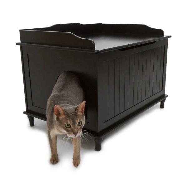 Designer Pet Products Black Litter Box