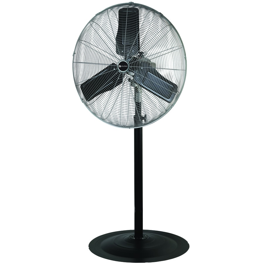 utilitech 30 in 3 speed outdoor black painting stand fan