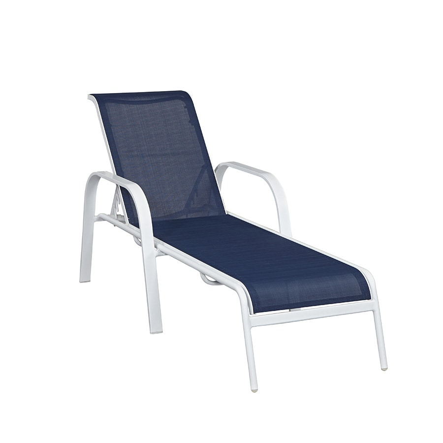redo sling patio chairs compact table and allen roth one ocean park extruded aluminum single chaise lounge
