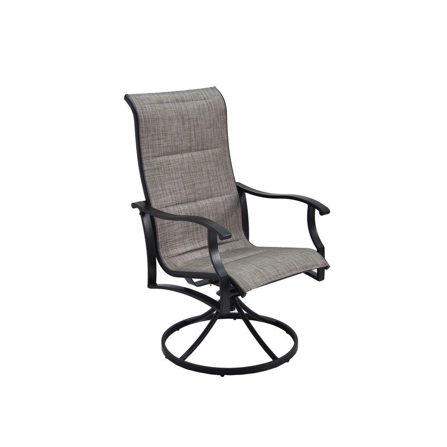 display product reviews for skytop count black steel swivel rocker patio dining chairs with