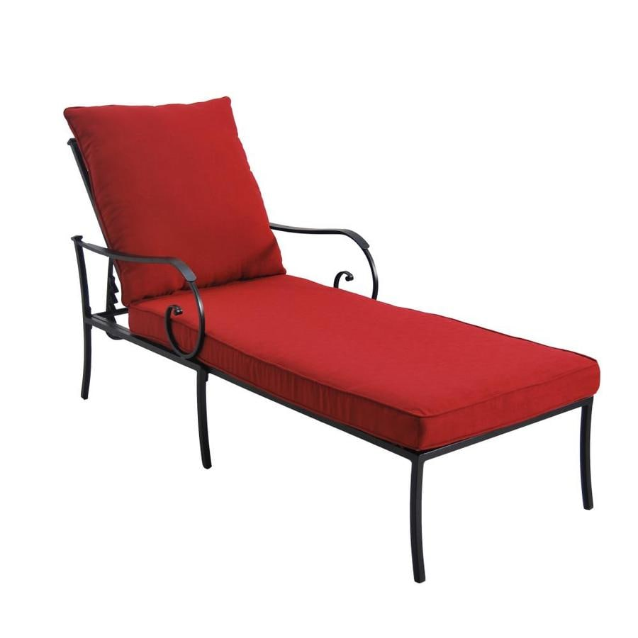 red chaise lounge chair renting tables and chairs for wedding yorkford steel with mesh at lowes com
