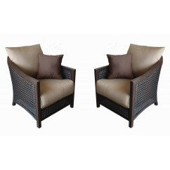 Patio Chairs At Lowes Perfect Posture Allen Roth Set Of 2 Cranston Aluminum With Textured Tan Cushoin