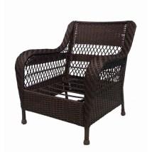 Garden Treasures Glenlee Textured Brown Steel Strap Seat