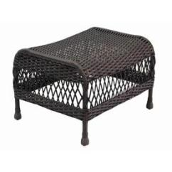 Outdoor Chair And Ottoman Hickory King Size Bed Ottomans Foot Stools At Lowes Com Allen Roth Glenlee Woven