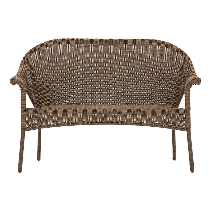 style selections valleydale woven outdoor loveseat with steel frame