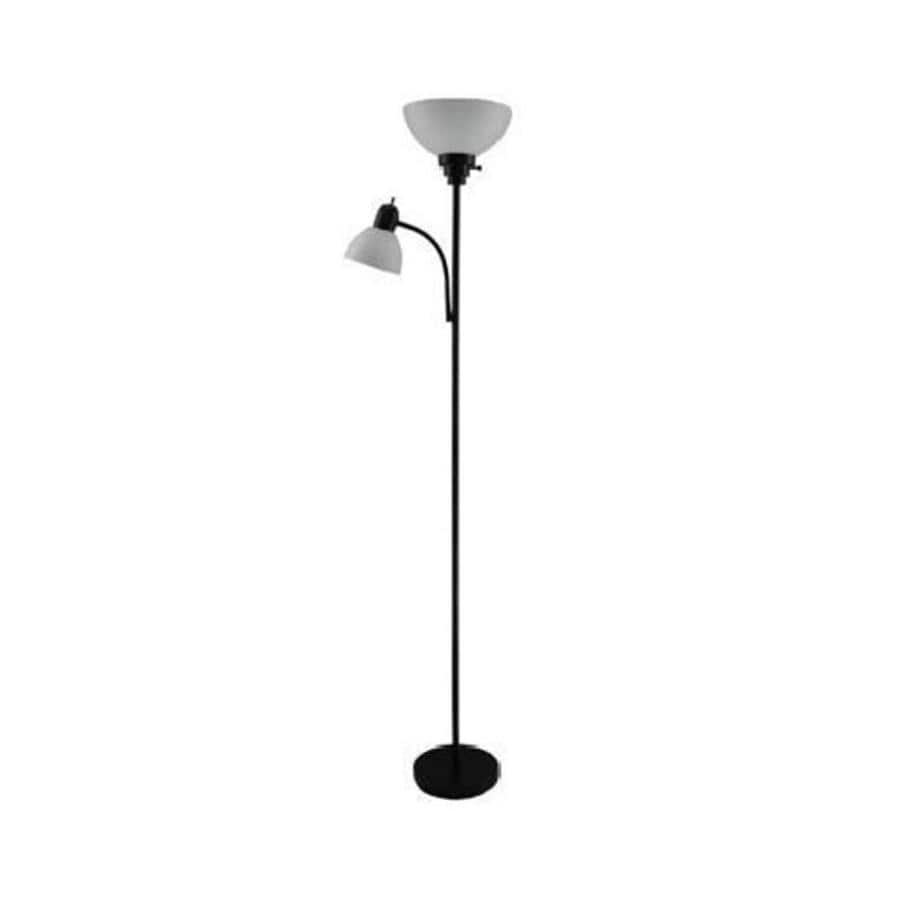 Portfolio 71in Black 3Way Torchiere with Reading Light
