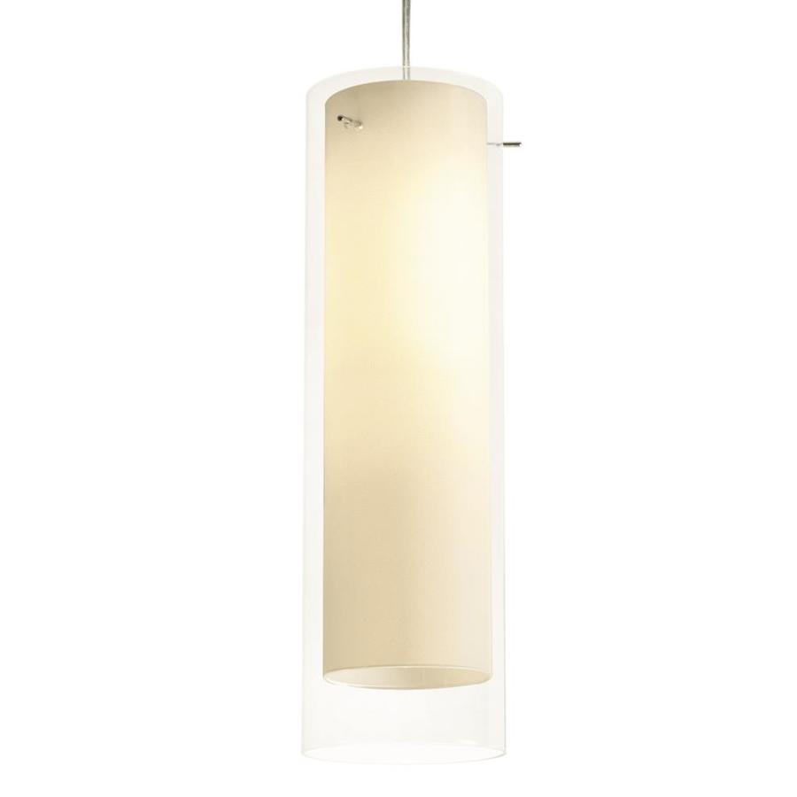 afx view satin nickel modern contemporary cylinder led mini pendant light