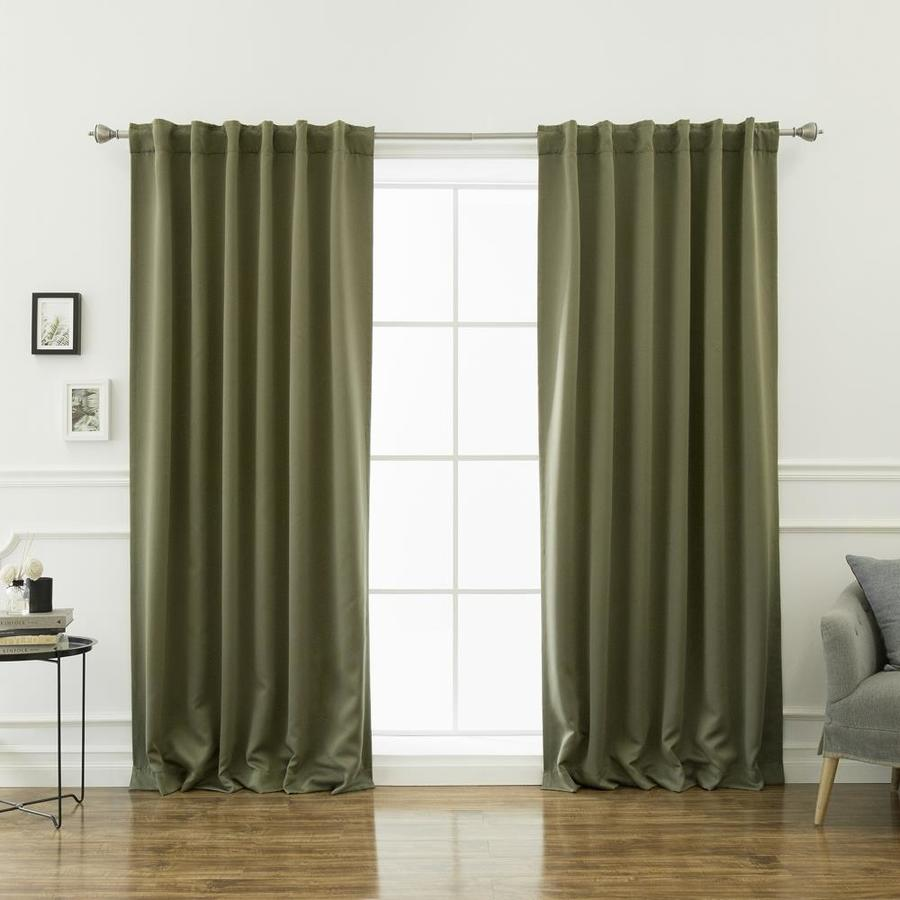 best home fashion 72 in olive polyester blackout back tab curtain panel pair