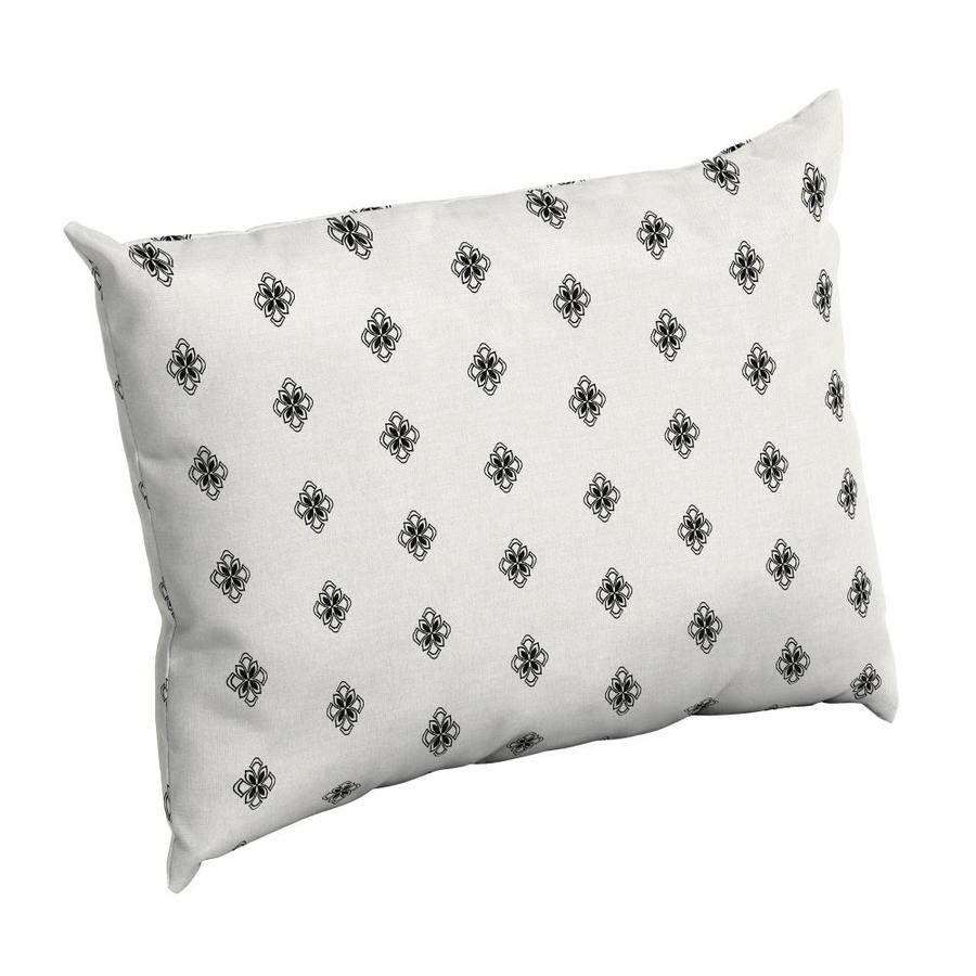 arden selections geometric black and white diamond geo rectangular throw pillow