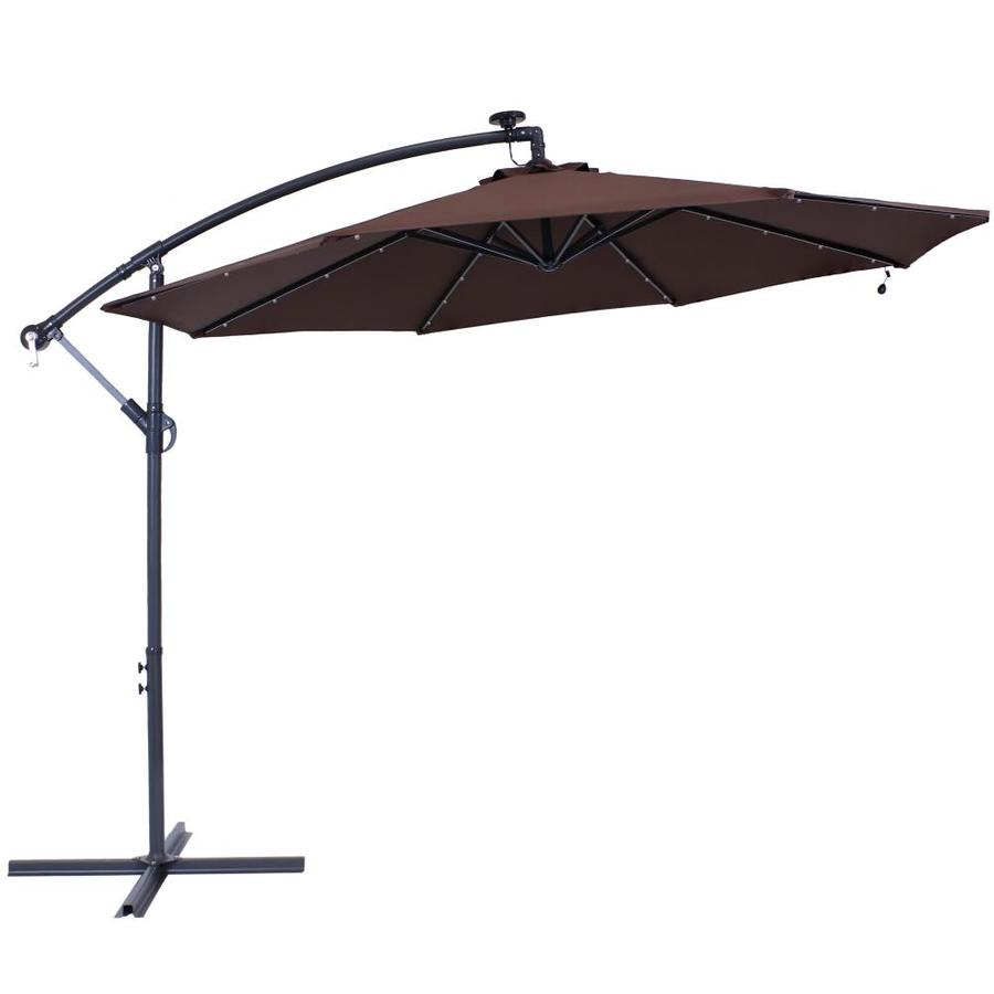 sunnydaze decor 10 50 ft solar powered offset patio umbrella