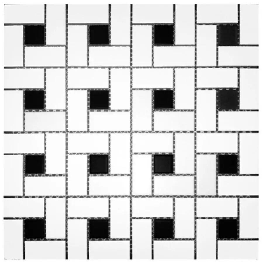 splash mosaic tile cascade 5 pack white
