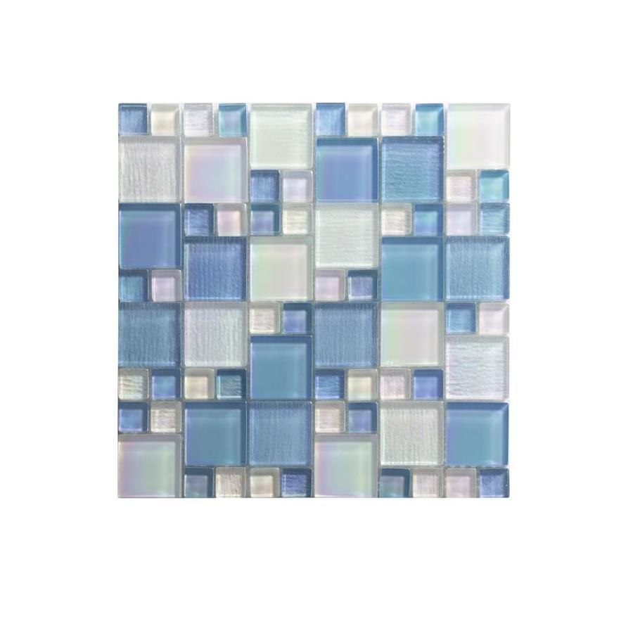 ws tiles swimming pool series 5 pack alaskan blue 12 in x 12 in iridescent glass versailles wall tile