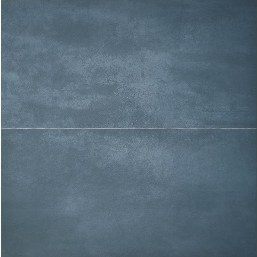 artmore tile anvil 2 pack indigo 24 in x 48 in matte porcelain stone look floor and wall tile