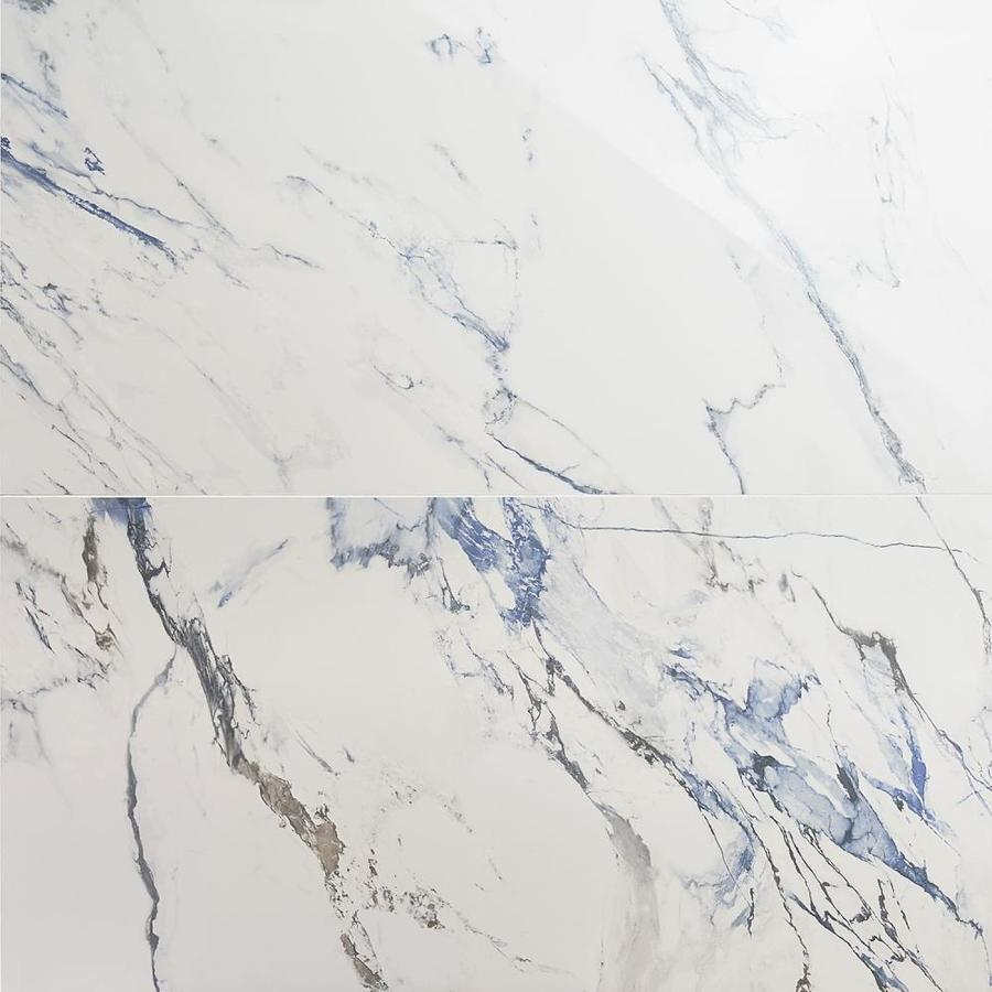 artmore tile calcatta cyanic 2 pack cyanic 24 in x 48 in matte porcelain marble look floor and wall tile