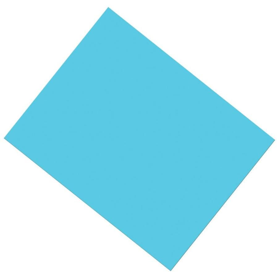 ucreate coated poster board light blue 22 x 28 in 25 sheets in the paper department at lowes com