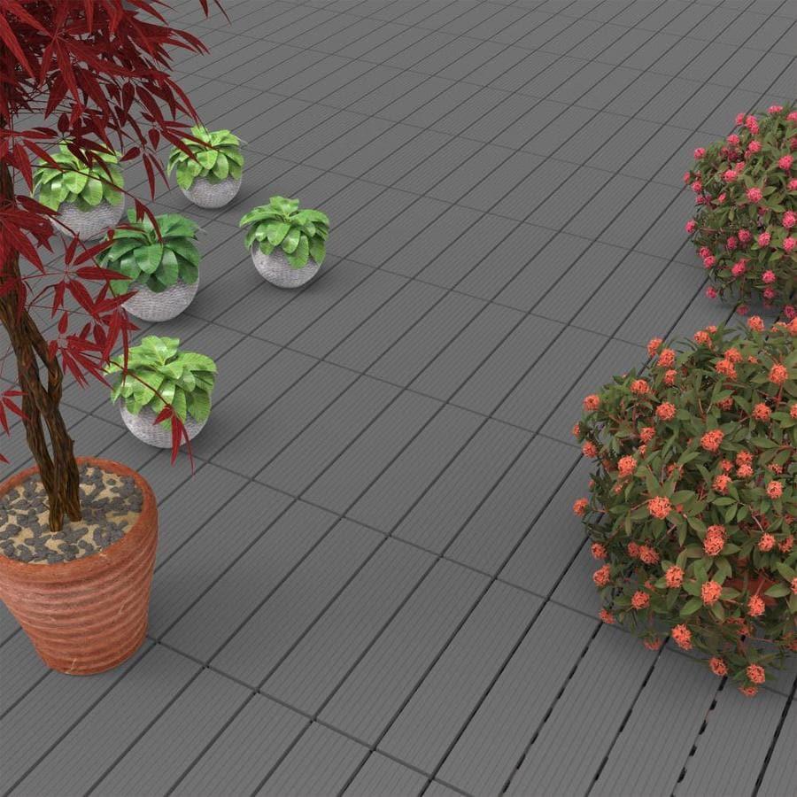 hastings home hastings home patio tiles dark gray set of 6