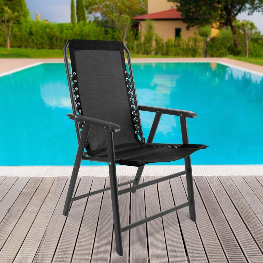 nature spring patio chairs black metal